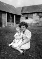 My Mom and me on the farm – 1951
