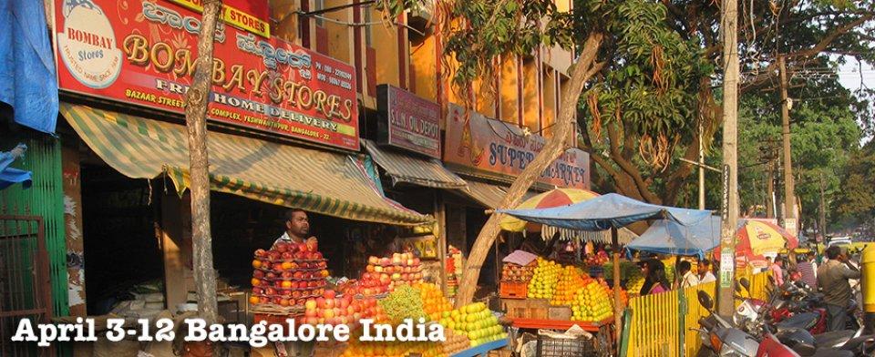 April 3-12 Bangalore India